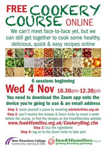 Cookery Course Flyer