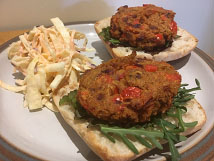 Courgette Bean Burgers