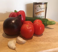 Ingredients for courgette bean burgers