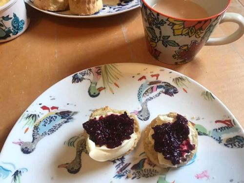 Scones with mulberry jam